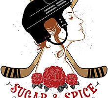 Sugar and Spice Hockey Womens by SaucyMitts