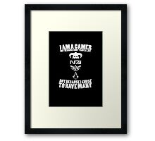 I am a gamer... Framed Print