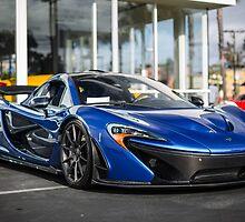 Azure Blue McLaren P1 by dcoynepics