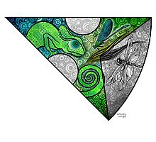 Rainbow Mandala Collaboration ~ Longing Photographic Print