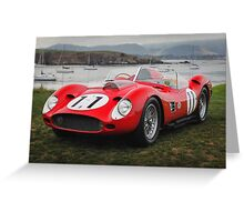 1959 Ferrari 250 TR59/60 Fantuzzi Spyder Greeting Card