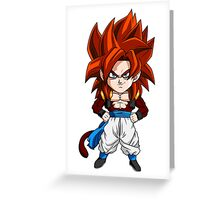 Gogeta Super Saiyan 4 Chibi Greeting Card