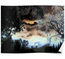 Solarized Cloud Scape Poster