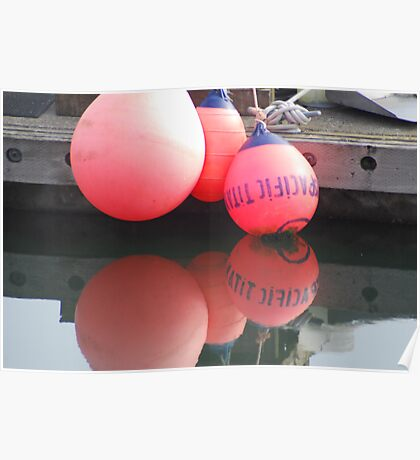 Buoy Reflection Poster