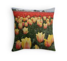Fabulous Tulips of Spring Throw Pillow