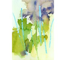Watercolor Abstraction: Crayon Photographic Print