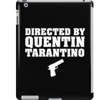 Directed by Quentin Tarantino (White)  iPad Case/Skin