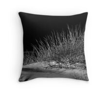 Waves And Stalks Throw Pillow