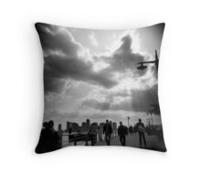 Hudson River Park, NYC Throw Pillow