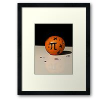 Maths Orange Framed Print