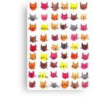 Happy kitty sad kitty Canvas Print