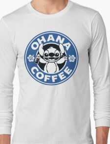 Ohana Coffee - Blue Version Long Sleeve T-Shirt