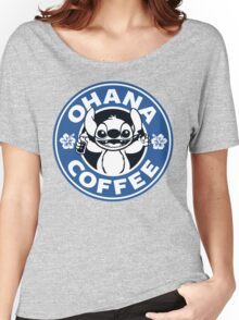 Ohana Coffee - Blue Version Women's Relaxed Fit T-Shirt