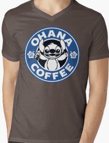 Ohana Coffee - Blue Version Mens V-Neck T-Shirt