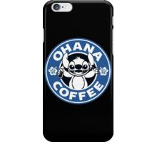 Ohana Coffee - Blue Version iPhone Case/Skin