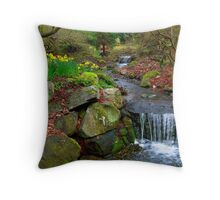 Spring in Beacon Hill Park Throw Pillow