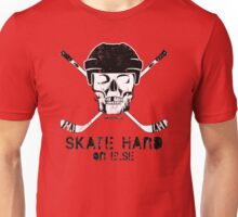 Hockey Skull Skate Hard Unisex T-Shirt