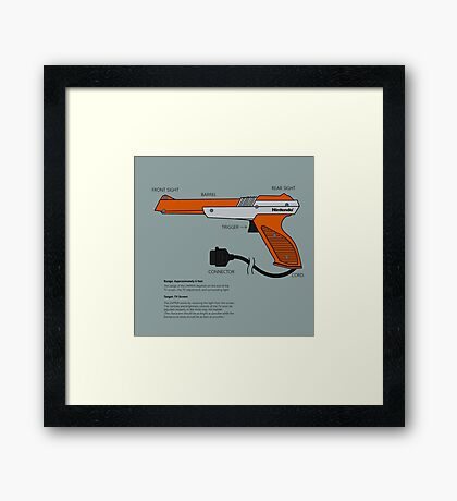 Nes Zapper Shoot them! Framed Print