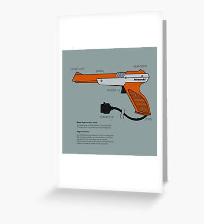 Nes Zapper Shoot them! Greeting Card
