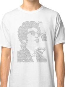 Bob Dylan Lyric Portrait Classic T-Shirt