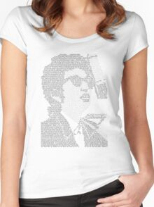 Bob Dylan Lyric Portrait Women's Fitted Scoop T-Shirt