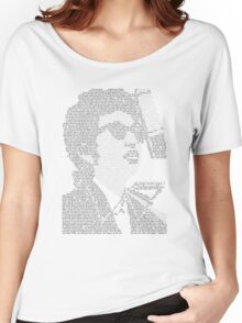 Bob Dylan Lyric Portrait Women's Relaxed Fit T-Shirt