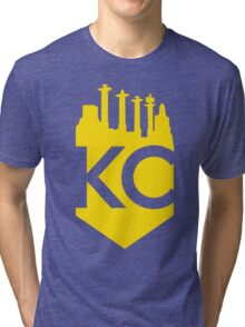 KC Skyline Crown Tri-blend T-Shirt