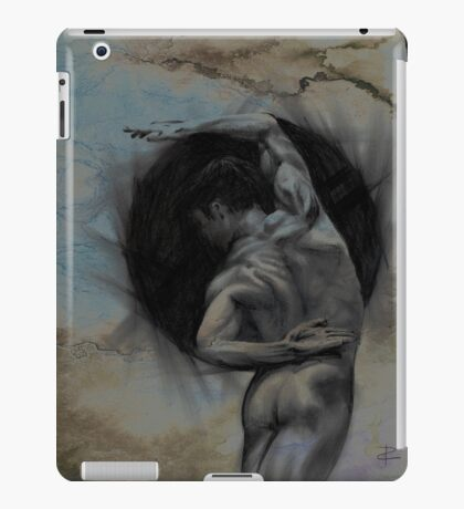 HARMONY - conté drawing with overlay iPad Case/Skin