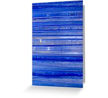 Cool Glass Blue Greeting Card
