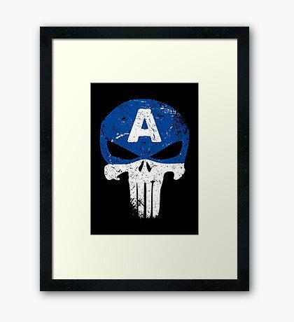 Captain Punisher Framed Print