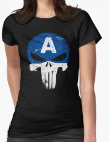 Captain Punisher Womens Fitted T-Shirt