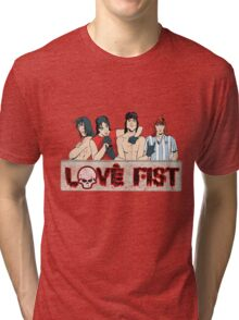 Love Fist Strikes Again! Tri-blend T-Shirt
