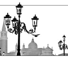 Venice Magic  In Monochrome by Astrid Pardew