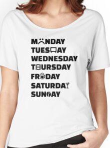 Week planner hobbies to do list Women's Relaxed Fit T-Shirt