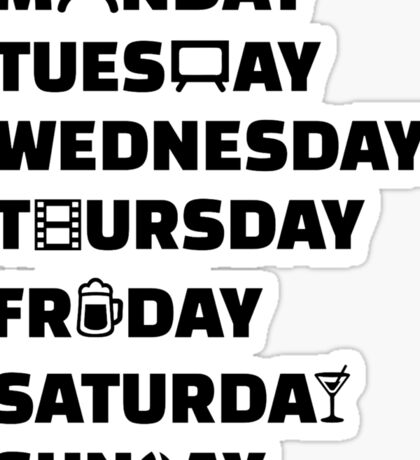 Week planner hobbies to do list Sticker