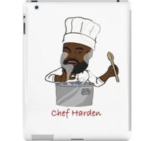 Chef Harden (Red Text) iPad Case/Skin