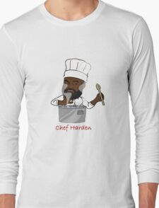 Chef Harden (Red Text) Long Sleeve T-Shirt