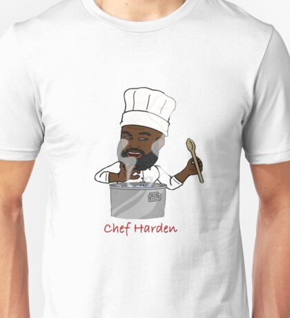Chef Harden (Red Text) Unisex T-Shirt