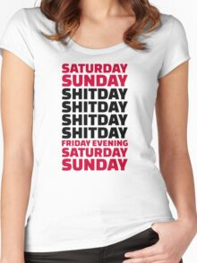 Office work shitday Women's Fitted Scoop T-Shirt