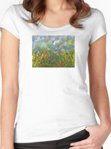 """""""Spring Day"""" Women's Fitted Scoop T-Shirt"""