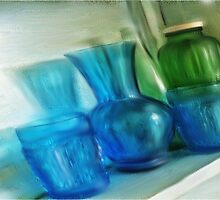 Still life with vintage glass... by Shellibean1162