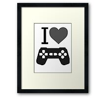 I Love Gaming Framed Print