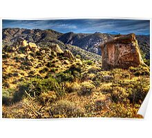 Monolith on the Trail at Sears-Kay Ruins Poster