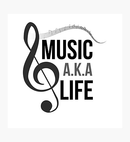 Music a.k.a life Photographic Print