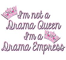 Pink and Purple Girly Drama Queen Humor by HavenDesign