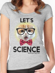 Waffles the Cat - Let's Science Women's Fitted Scoop T-Shirt