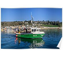 Lyme Regis Harbour 5 - April Poster