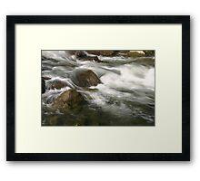 Water Rush Framed Print