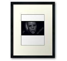 Die Antwoord - Yolandi in black bath Framed Print
