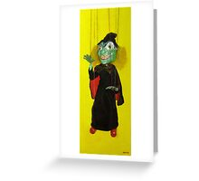 SL Greenfaced Witch Greeting Card